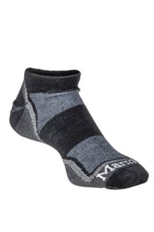 Wm's Micro Crew Sock, Black/Steel, medium