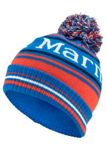Boy's Retro Pom Hat, True Blue, medium