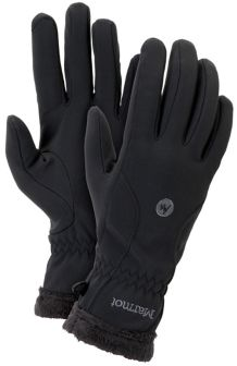 Wm's Fuzzy Wuzzy Glove, Black, medium