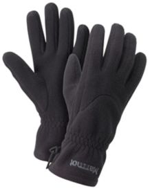 Wm's Fleece Glove, True Black, medium