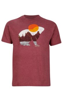 Alpine Zone Tee SS, Burgundy Heather, medium