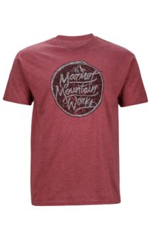 Turf Tee SS, Burgundy Heather, medium