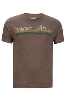 Line Set Tee SS, Brown Heather, medium