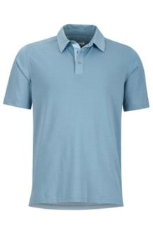 Wallace Polo SS, Blue Granite Heather, medium