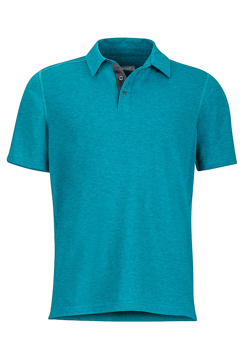 Wallace Polo SS, Deep Jade Heather, large