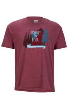 Waterfront Tee SS, Burgundy Heather, medium