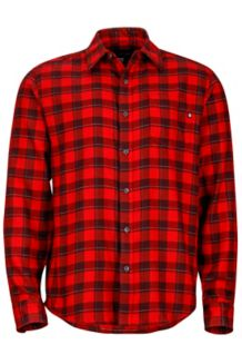 Bodega Flannel LS, Brick, medium