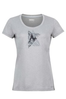 Wm's Post Time Tee, Grey Storm, medium
