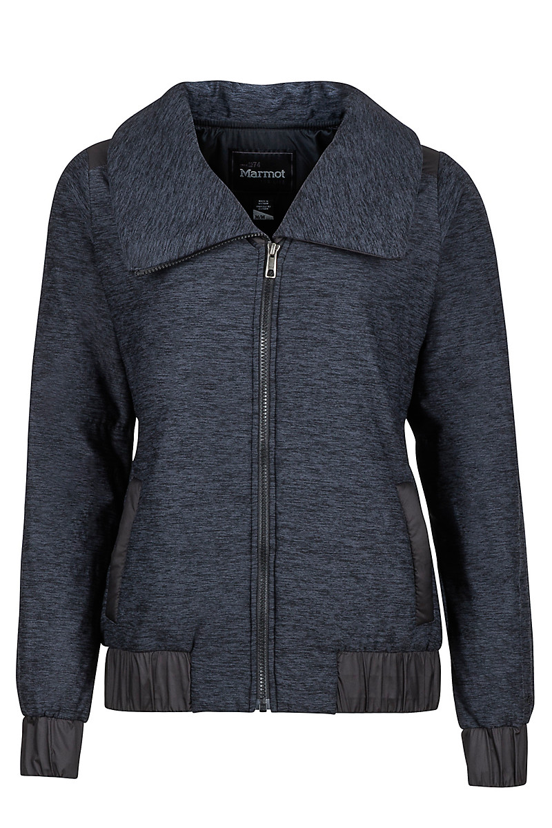 Wm's Elsee Jacket, Dark Charcoal Heather/Black, large