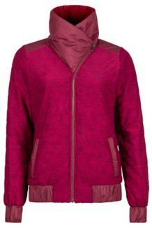 Wm's Elsee Jacket, Port/Red Dahlia Heather, medium