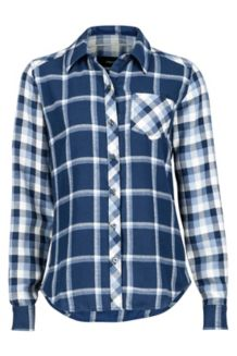 Wm's Taylor Flannel LS, Dark Indigo, medium