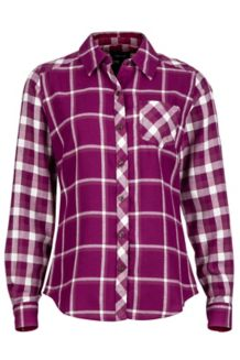 Wm's Taylor Flannel LS, Red Grape, medium