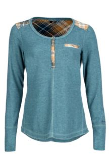 Wm's Morley LS, Denim Heather, medium