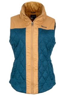 Wm's Abigal Vest, Denim Heather/Chamois, medium