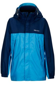 Boy's PreCip Jacket, Mykonos Blue/Arctic Navy, medium
