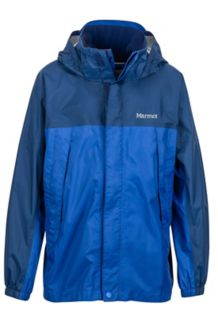 Boy's PreCip Jacket, Surf/Arctic Navy, medium