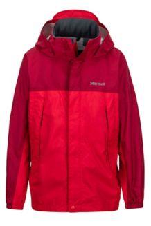 Boy's PreCip Jacket, Tomato/Sienna Red, medium