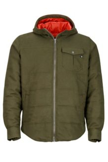Banyons Insulated Hoody, Deep Olive Heather, medium