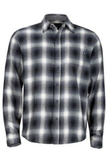 Fairfax Flannel LS, Cinder, medium
