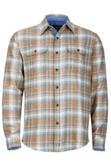 Jasper Flannel LS, Dark Maple, medium