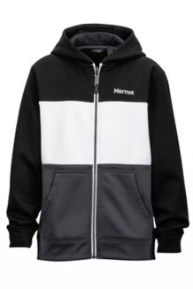 Boy's Rincon Hoody, Black/White, medium