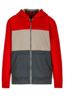 Boy's Rincon Hoody, Team Red/Dark Zinc, medium