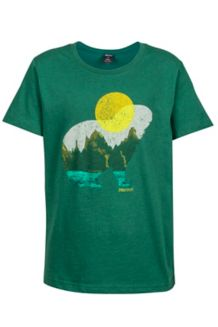 Boy's Alpine Zone Tee SS, Deep Teal, medium