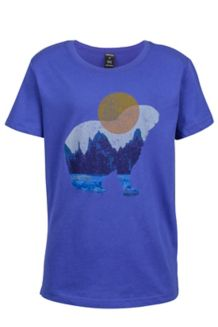 Boy's Alpine Zone Tee SS, Mykonos Blue, medium