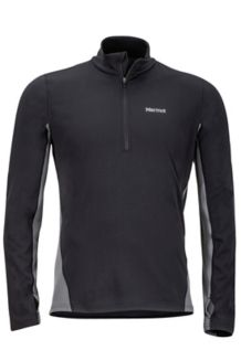 Excel 1/2 Zip, Black/Cinder, medium