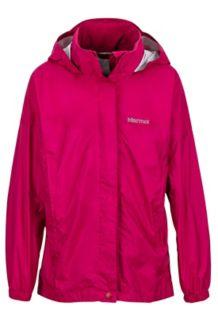 Girl's PreCip Jacket, Sangria, medium