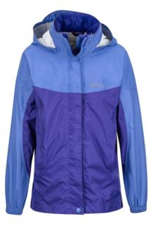 Girl's PreCip Jacket, Lilac/Electric Purple, medium
