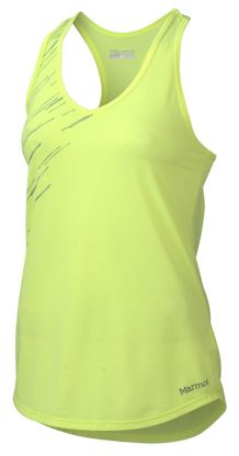 Wm's Layer Up Tank, Hyper Yellow Heather, medium