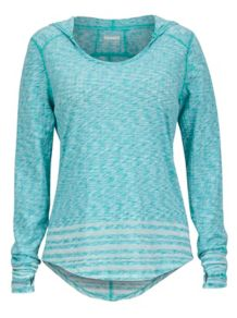 Wm's Natasha Burnout Hoody, Crystal Green, medium