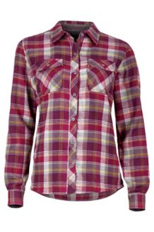 Wm's Bridget Flannel LS, Magenta, medium