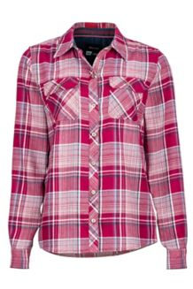 Wm's Bridget Flannel LS, Red Dahlia, medium