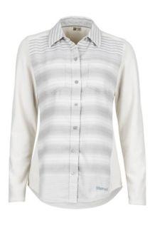Wm's Lani Flannel LS, Glacier Grey, medium