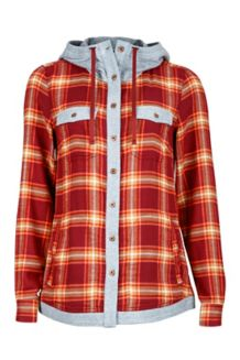 Wm's Reagan Flannel LS, Madder Red, medium