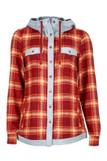 Wm's Reagan Flannel LS, Madder Red, medium