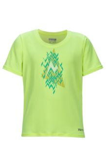 Girl's Post Time Tee SS, Hyper Yellow Heather, medium