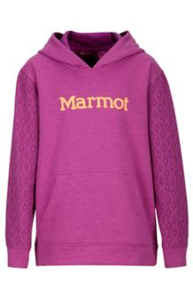 Girl's Josie Hoody, Neon Berry Heather/Grape, medium