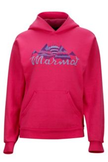Girl's Stardust Hoody, Bright Pink, medium