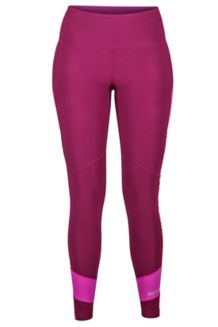 Wm's Adrenaline Tight, Deep Plum/Neon Berry, medium