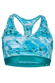 Wm's Layer Up Sportsbra, Malachite Jet Stream, medium