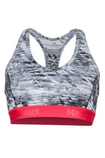 Wm's Layer Up Sportsbra, Steel Onyx Jet Stream, medium