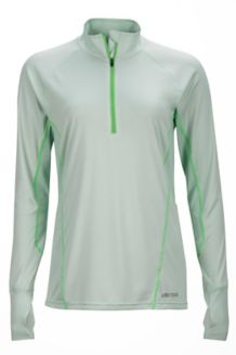 Wm's Interval 1/2 Zip LS, Icy Sage/Vibrant Green, medium