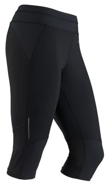 Wm's Impulse 3/4 Tight, Black, medium