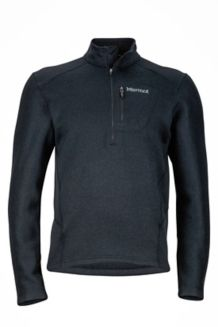 Drop Line 1/2 Zip, Black, medium