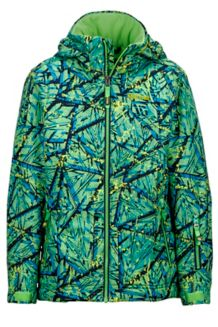 Boy's Powderhorn Jacket, Vibrant Green Shred, medium