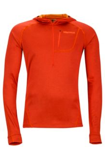 Indio 1/2 Zip, Orange Haze, medium