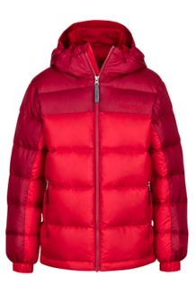 Boy's Guides Down Hoody, Team Red/Brick, medium
